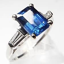 sapphire emerald cut engagement rings emerald cut blue sapphire engagement ring solid pl