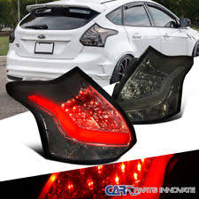 2014 ford focus tail light 2012 2014 ford focus 5d hatchback full led tail lights smoke tinted
