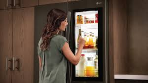 lg instaview fridges let you see through them with just a knock