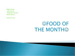 food of the month food of the month spain