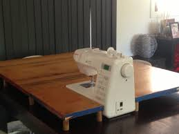 sewing tables by sara diy sewing machine extension table and sew we craft