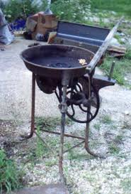 Backyard Blacksmithing The Beginnings Of My Homemade Forge Scrounged Turkey Fryer Stand