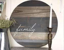 Reclaimed Wood Home Decor Family Home Decor Etsy