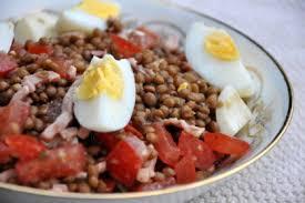 comment cuisiner des lentilles en boite la salade de lentilles de fred dans la cuisine d audinette