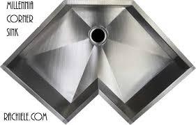 stainless corner sink corner single bowl custom stainless steel kitchen sinks