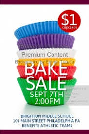 customizable design templates for bake sale poster postermywall