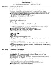 instrument resume samples velvet jobs