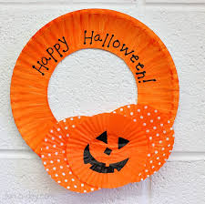 Fun Halloween Crafts - halloween craft for kids cupcake liner wreath