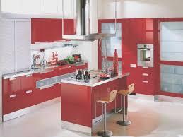 kitchen new red painted kitchen cabinets wonderful decoration