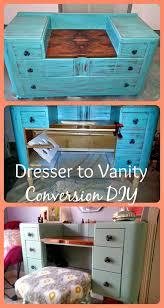 Diy Makeup Vanity Chair Diy Dresser To Vanity Conversion Makeup Brush Holders Brush
