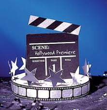 director u0027s clapboard centerpiece set of 2 hollywood themed