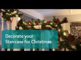 How To Decorate A Banister Decorate Your Staircase For Christmas Youtube
