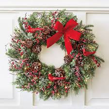 pre lit wreath wreaths garlands trees shop gump s
