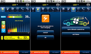 app for android nissan releases leaf app for blackberry and android mobile users