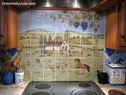ceramic tile murals for kitchen backsplash view of the backsplash with its barnyard birds sheep goats and