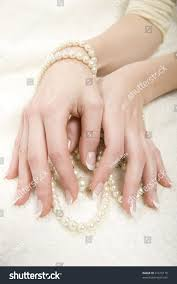 healthy hands professional french manicure on stock photo 41615170