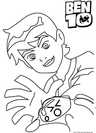 printable ben 10 ultimate alien coloring pages kidsfree