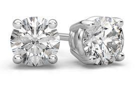 white gold diamond stud earrings 0 25 carat diamond stud earrings in 14k white gold