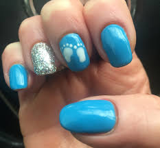 baby shower nail art manicure baby boy party baby shower