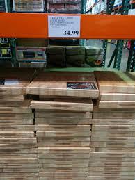 costco labell maple butcher block cutting board 29 99 image