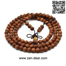 Teak Wood Zen Dear Unisex Teak Wood Prayer Beads Buddha Buddhist Beads Japa