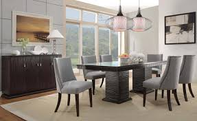 Home Design Ideas Crown Mark Bruce Expresso Table Set Gallery - Dining room chairs houston