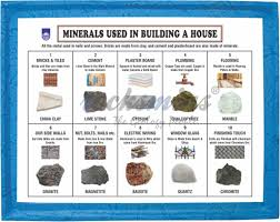 minerals used in building a house set of 10 bu10pm bu10ps