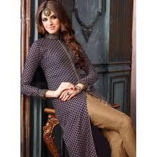 3202 dark blue and brown maisha lavish 2 party wear suit