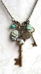 key necklace charms images Garden key necklace charm sage green jewelry design jpg