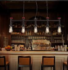 Edison Pendant Light Fixture Retro Loft Style Water Pipe Lamp Edison Pendant Light Fixtures
