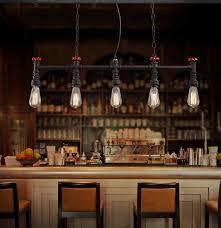 retro loft style water pipe lamp edison pendant light fixtures vintage lighting for dining room