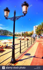 santa eulalia del rio ibiza prom promenade beach lights hotels sea