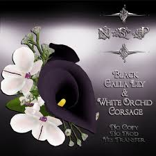 white orchid corsage second marketplace nsp black calla white orchid