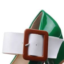 chinese nightclub style square toe pumps fashion paint color