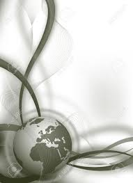 abstract business wallpaper background with globe stock photo