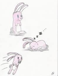 cute pink fluffy bunny of doom by mattsu on deviantart