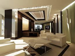 futuristic lamp luxurious workplace interior with white off sofas on the cream floor it also has small windows and door with small warm lamp on the ceiling jpg