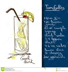 tom collins illustration with tom collins cocktail royalty free stock images