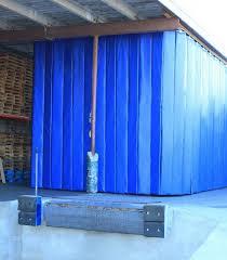 retractable industrial acoustic curtains construction picture
