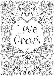 coloring pages for adults inspirational love grows colouring adult coloring free printable and with