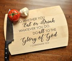 House Warming Wedding Gift Idea Glory Of God Cutting Board Christian Cutting Board Personalized