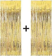 shimmer curtain metallic gold 91cm x 244cm smiffys amazon co
