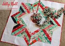 piece n quilt joyful jelly roll christmas tree skirt