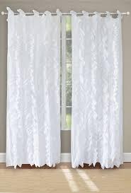 Tab Top Sheer Curtain Panels Greenland Home Fashions Waterfall Solid Sheer Tab Top Curtain