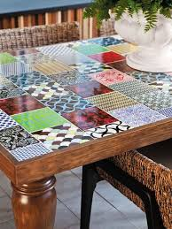 Mosaic Patio Table Top by How To Make Your Own Tile Table