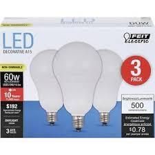 3 pack led candelabra base e12 daylight feit 60w equivalent using