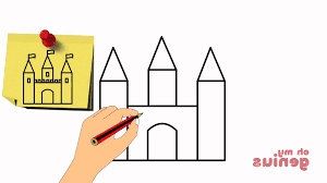 simple castle drawing how to draw a castle step step youtube