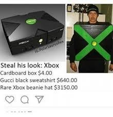 Gucci Hat Meme - saurusrex polar ig steal his look xbox cardboard box 400 gucci
