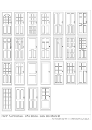 free cad blocks door elevations first in architecture