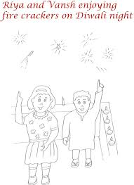 drawn fireworks diwali cracker pencil and in color drawn